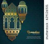 ramadan kareem design... | Shutterstock .eps vector #629126531