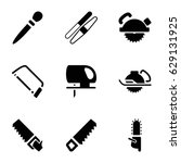 saw icons set. set of 9 saw... | Shutterstock .eps vector #629131925