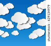 illustration of clouds on blue... | Shutterstock . vector #629134979