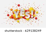 banner with paper white letters ... | Shutterstock .eps vector #629138249