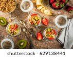 healthy breakfast. diet.... | Shutterstock . vector #629138441