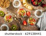 healthy breakfast. diet.... | Shutterstock . vector #629138441