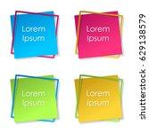 set of pink  gold  blue  green... | Shutterstock .eps vector #629138579