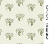 pattern of the ripe grape... | Shutterstock .eps vector #629140241