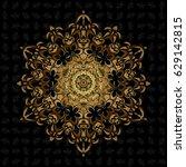 vector illustration. black... | Shutterstock .eps vector #629142815