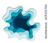 abstract elements of paper art... | Shutterstock . vector #629151701