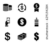 income icons set. set of 9...   Shutterstock .eps vector #629154284
