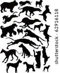 Stock photo illustration with dog silhouettes isolated on white background 62916118