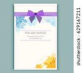 cute wedding  b day  save date  ... | Shutterstock .eps vector #629167211