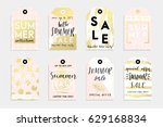 cute summer tags for your... | Shutterstock .eps vector #629168834