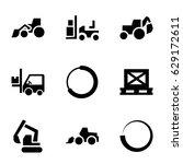 loader icons set. set of 9... | Shutterstock .eps vector #629172611