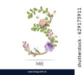 floral watercolor number....