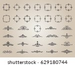 circle and square wicker... | Shutterstock .eps vector #629180744