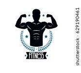 bodybuilding and fitness sport... | Shutterstock .eps vector #629190461