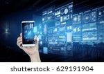 online banking application | Shutterstock . vector #629191904