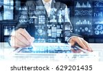 woman using modern graphics | Shutterstock . vector #629201435