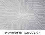 vector micro chip  micro scheme ... | Shutterstock .eps vector #629201714