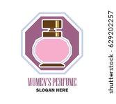 perfume   fragrance logo with... | Shutterstock .eps vector #629202257