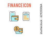 finance icon set vector | Shutterstock .eps vector #629203064