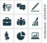 job icons set. collection of... | Shutterstock .eps vector #629210519