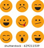 set of smiley face icons.... | Shutterstock .eps vector #629211539