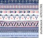 tribal seamless pattern. ethnic ... | Shutterstock .eps vector #629211581