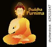 illustration of buddha purnima... | Shutterstock .eps vector #629213147