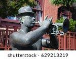 statue trumpet man at kitano... | Shutterstock . vector #629213219