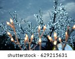 blurred lights background | Shutterstock . vector #629215631