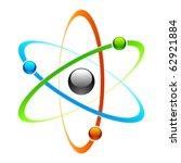 atom symbol. vector. | Shutterstock .eps vector #62921884