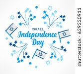 israel independence day... | Shutterstock .eps vector #629220911