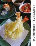 tempura shrimp   Shutterstock . vector #629223914