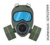 Flat Style Vector Respirator...
