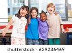 multi ethnic classroom. afro...   Shutterstock . vector #629236469