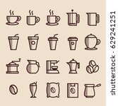 coffee icon outline | Shutterstock .eps vector #629241251