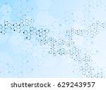 abstract molecules medical... | Shutterstock .eps vector #629243957
