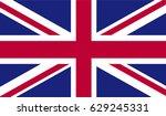 united kingdom flag   Shutterstock .eps vector #629245331