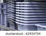 Food storage pans - stock photo
