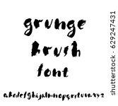 hand drawn dry brush font....   Shutterstock .eps vector #629247431