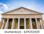 facade of the roman pantheon in ... | Shutterstock . vector #629252435
