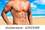 sexy caucasian fit man posing... | Shutterstock . vector #62925289