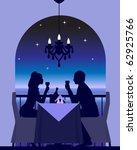 An Elegant Couple Enjoying A...