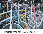 rental bike. | Shutterstock . vector #629258711