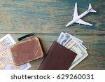 preparation for traveling... | Shutterstock . vector #629260031