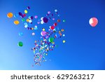 Colorful Balloons On A Blue Sk...