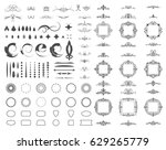 circle and square wicker... | Shutterstock . vector #629265779