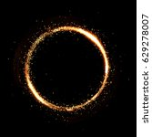 circle gold particle black... | Shutterstock . vector #629278007