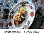 fish congrio   Shutterstock . vector #629279069
