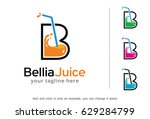 letter b juice logo template... | Shutterstock .eps vector #629284799