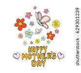 vector happy mothers day vector ... | Shutterstock .eps vector #629301239